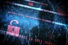 Identité cachée d'un pirate informatique Photographie stock