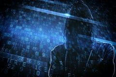 Identité cachée d'un pirate informatique Photo stock