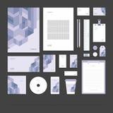 Identité d'entreprise abstraite géométrique, ensemble de papeterie illustration libre de droits