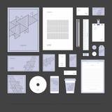 Identité d'entreprise abstraite géométrique, ensemble de papeterie illustration de vecteur