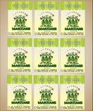 Identité d'entreprise avec le logo de trois Martien étrangers Étranger coloré drôle de bande dessinée avec les étoiles vertes - v illustration libre de droits