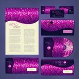 Identité d'entreprise desing Bakground de disco Image stock