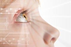 Identité de balayage d'iris Photographie stock