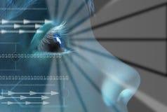 Identité de balayage d'iris image libre de droits