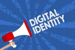 Identité de Digital des textes d'écriture L'information de signification de concept sur l'entité employée par ordinateur pour rep illustration stock