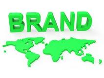 Identité et marques de Brand World Shows Company illustration libre de droits