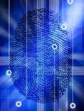 Identité de garantie de technologie d'empreinte digitale d'ordinateur Image libre de droits