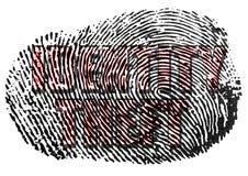 Identit?ts-Diebstahl-Fingerabdruck stockfotos