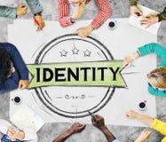 Identiteit het Brandmerken Marketing Copyright Merkconcept Royalty-vrije Stock Foto's