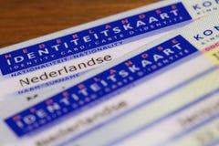Identiteitskaart stock afbeelding
