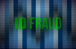 Identiteitskaart-fraude binaire achtergrond Stock Afbeelding