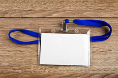 Identiteitskaart-kaartkenteken met koord Royalty-vrije Stock Foto's