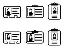 Identiteitskaart-kaartpictogrammen Royalty-vrije Stock Afbeeldingen