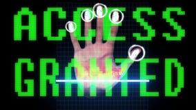 Identitet och godkännande för bildläsning för handfingeravtryck biometric royaltyfri illustrationer
