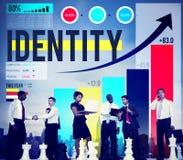 Identitet som brännmärker kommersiellt Copyright marknadsföringsbegrepp royaltyfria foton