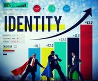 Identitet som brännmärker kommersiellt Copyright marknadsföringsbegrepp royaltyfri foto
