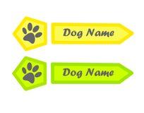 Identitetsetikett för hund Arkivfoto