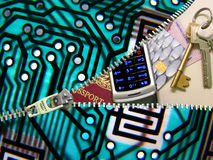 Identitätsdiebstahl und Betrugsverbrechen Stockfotos