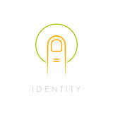 Identity abstract vector logo Stock Images