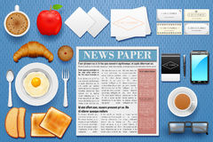 Identity branding mockup for breakfast. Easy to edit vector illustration of identity branding mockup for breakfast Stock Photos