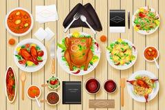 Identity branding mockup for dinner table Stock Images
