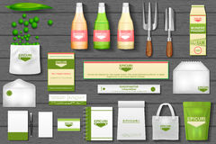 Identity branding mockup for eco gardening Royalty Free Stock Images