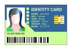 Identity card royalty free illustration