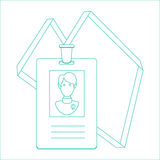 Identity card of the person, badge, identification card. line design. Stock Photography