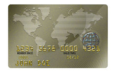 Identity Credit Card. A BLANK typical plastic credit card with expiration date Royalty Free Stock Photos