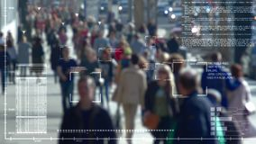 Identity in the crowd stock footage