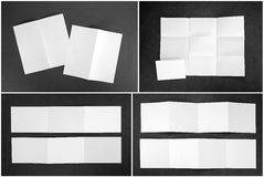 Identity design, corporate templates, company style, set of book. Lets, blank white folding paper flyer stock photos