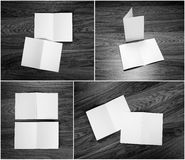 Identity design, corporate templates, company style, set of book. Lets, blank white folding paper flyer stock photography
