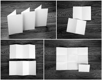 Identity design, corporate templates, company style, set of book. Lets, blank white folding paper flyer stock photo