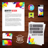 Identity design for Your business, geometric style. Set of blank Royalty Free Stock Image