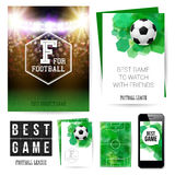 Identity design for Your football club. Set of blanks, business Stock Photos
