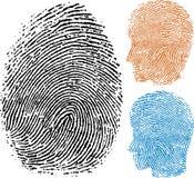 Identity fingerprint Stock Photography