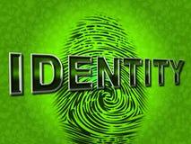 Identity Fingerprint Represents Log Ins And Brand Stock Image
