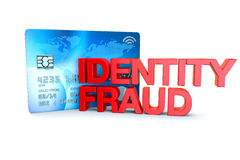 Identity fraud 3d render concept with text Royalty Free Stock Photos