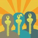 Identity key group Stock Photo