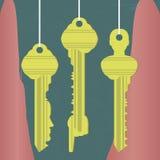 Identity keys Royalty Free Stock Photos