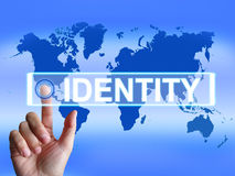 Identity Map Represents Worldwide or Royalty Free Stock Images