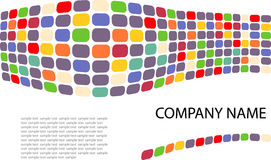 Identity. Multi-colored wave made of dots Royalty Free Stock Photos