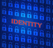Identity Online Means World Wide Web And Www Stock Images