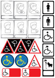Identity People State_eps. Illustration of female, male, disability, mother or father with baby sign Royalty Free Stock Photography