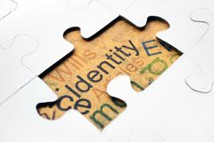 Identity puzzle concept Stock Images