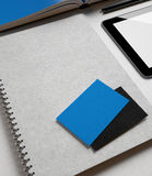 Identity set with blue elements Royalty Free Stock Photo