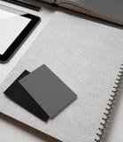 Identity set with grey elements Royalty Free Stock Image