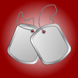 Identity tag. Vector identity plates or dog tag Royalty Free Stock Images