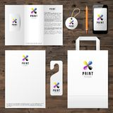 Identity template with cmyk logo design Royalty Free Stock Photos