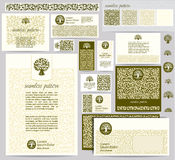 Identity template with leaf pattern Stock Photography